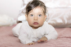Portrait of little girl close up. Royalty Free Stock Photos