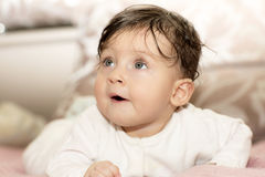 Portrait of little girl close up. Stock Photography
