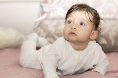 Portrait of little girl close up. Royalty Free Stock Images