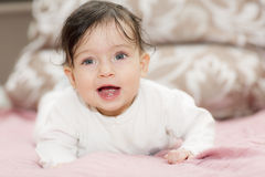 Portrait of little girl close up. Stock Image
