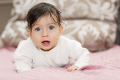 Portrait of little girl close up. Royalty Free Stock Photography