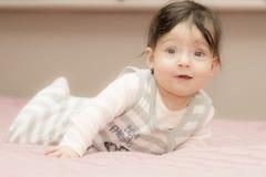 Portrait of little girl close up. stock photos