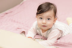 Portrait of little girl close up. royalty free stock photo