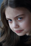 Little Girl Crying. Portrait of a little girl crying Royalty Free Stock Image