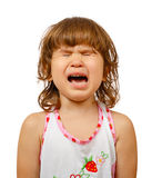 Portrait of a little girl crying Royalty Free Stock Photo