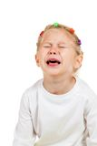 Portrait of little girl crying Royalty Free Stock Photos