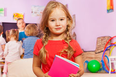 Portrait of little girl in developmental class Royalty Free Stock Photography
