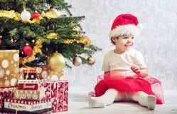 Portrait of a little girl dressed up a santa. Portrait of a cute girl dressed up a santa Stock Photography