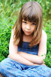 Portrait of little girl with elegant hairstyle Royalty Free Stock Photos