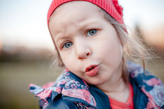 Portrait of a little girl with emotion Royalty Free Stock Photos