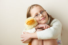Portrait of a  little girl in eyeglasses Royalty Free Stock Photos