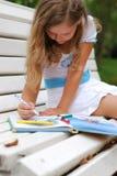 Portrait of the little girl with a fair hair Royalty Free Stock Photos