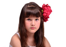 Portrait of the little girl flamenco dancer Royalty Free Stock Photo