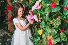 Portrait of little girl in the garden Royalty Free Stock Photos