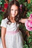 Portrait of little girl in the garden Stock Photography