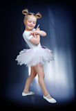 Portrait of a little girl has been dancing Royalty Free Stock Photography