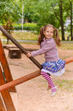 Portrait of little girl having fun Royalty Free Stock Photos
