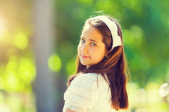 Portrait of a Little Girl in her First Communion Day Stock Photography