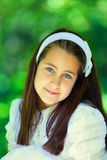 Portrait of a Little Girl in her First Communion Day Stock Images