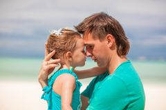 Portrait of a little girl and her young dad Royalty Free Stock Photos