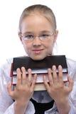 Portrait of little girl holding Royalty Free Stock Image