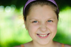 Portrait of a little girl. An image of a portrait of a happy girl stock image