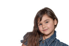 Portrait of little girl isolated Royalty Free Stock Images