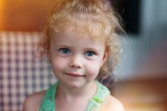 Little girl smilng royalty free stock photo