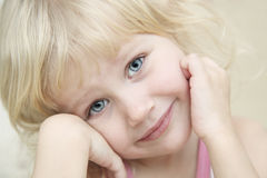 Portrait little girl, look at the camera Stock Photography