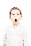 Portrait of little girl with mouth open Royalty Free Stock Photography