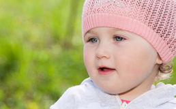 Portrait of a little girl royalty free stock photography