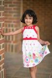 Portrait of a Little Girl. Outdoor Portrait of a Little Girl Stock Photos