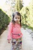 Portrait of little girl. Outdoor fashion portrait of little girl Stock Photo