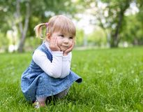 Portrait of a little girl outdoors Royalty Free Stock Photos