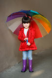 Portrait of little girl outdoors royalty free stock images