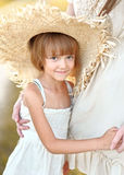 Portrait of little girl outdoors Stock Images