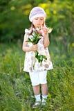 Portrait of little girl outdoors Stock Photos