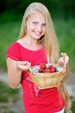 Portrait of little girl outdoors Royalty Free Stock Photo