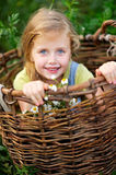 Portrait of little girl outdoors Royalty Free Stock Image