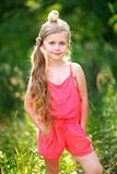 Portrait of little girl outdoors Stock Photo