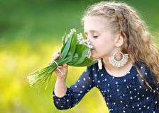Portrait of little girl outdoors Stock Image