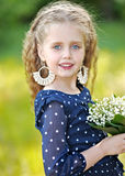 Portrait of little girl outdoors Royalty Free Stock Photography