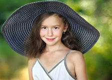 Portrait of little girl outdoors Stock Photos