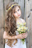 Portrait of little girl outdoors Royalty Free Stock Photos