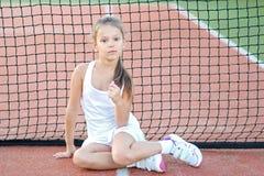 Portrait of little girl outdoors Stock Image