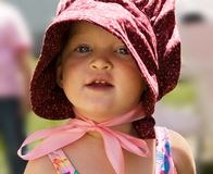 Portrait of little girl in 'p Stock Images