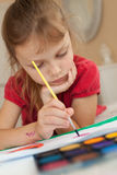 Painting child Royalty Free Stock Photography