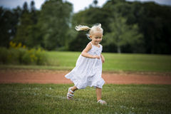 Portrait of a little girl in the park Stock Photography