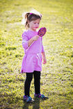 Portrait of a little girl in the park Royalty Free Stock Images