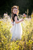 Portrait of a little girl in the park Stock Photo